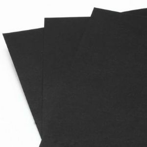 Card blanks, black, 29.8cm x 21.2cm, 6 Card blanks, 150 gsm, (PMA0051)